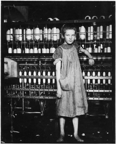 child cotton mill worker